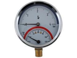 STENO Termomanometr 4 bar spodní DN 80
