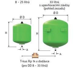 REFLEX Refix DD 25/10 bar zelená - 2