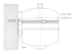 RABOVSKÝ Souprava upevnění expanzní nádoby s páskou nerez - 2